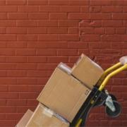 Chariot de cartons de cartouches vides